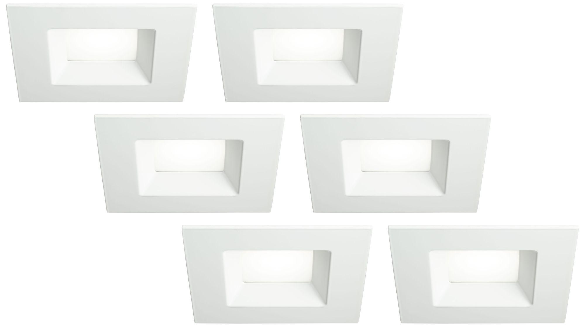 6 white square retrofit 15 watt led recessed lights 6 pack