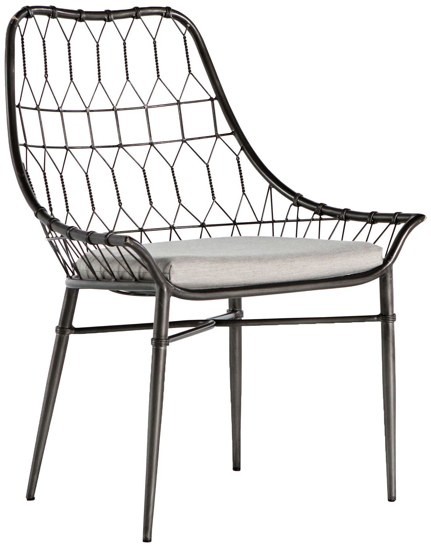 arman vintage metal outdoor dining chair