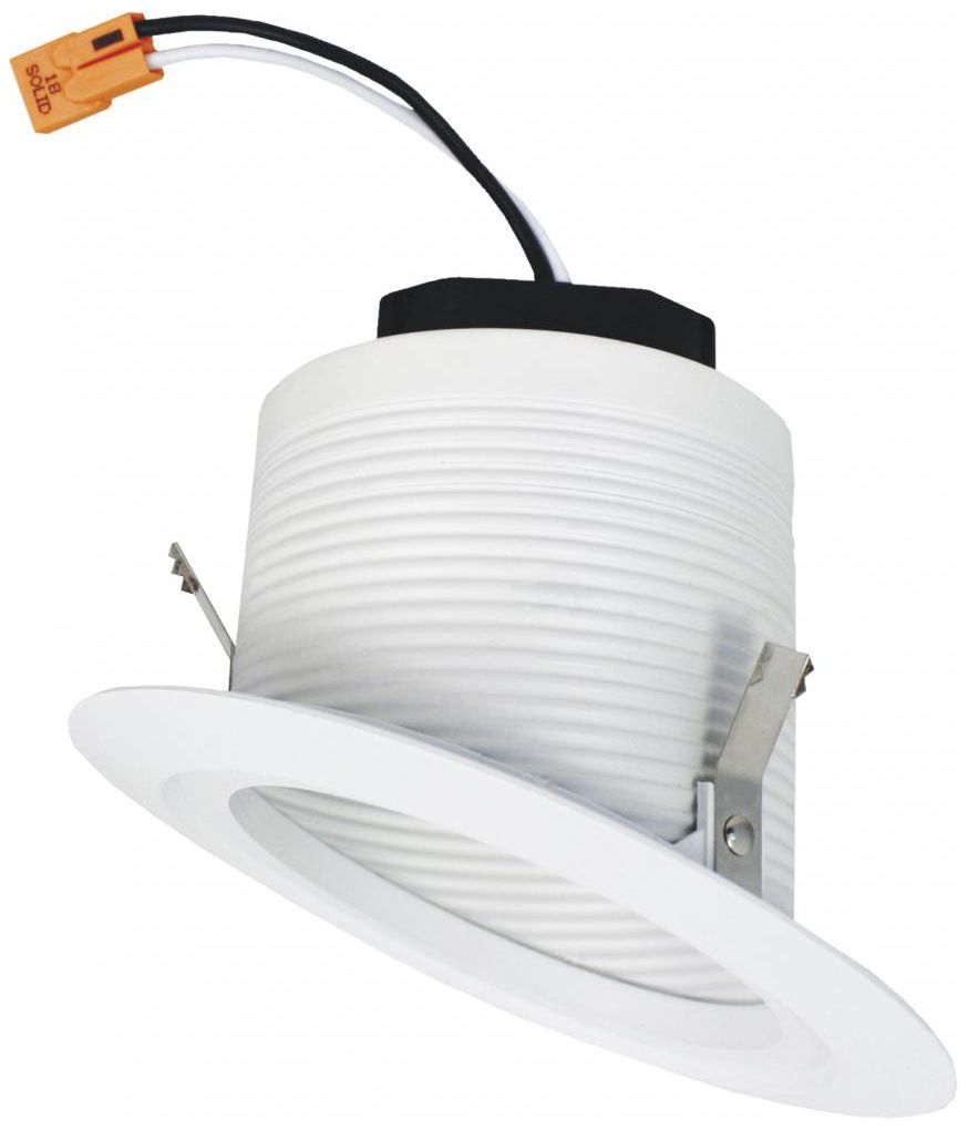 elco 4 white sloped ceiling led baffle recessed downlight