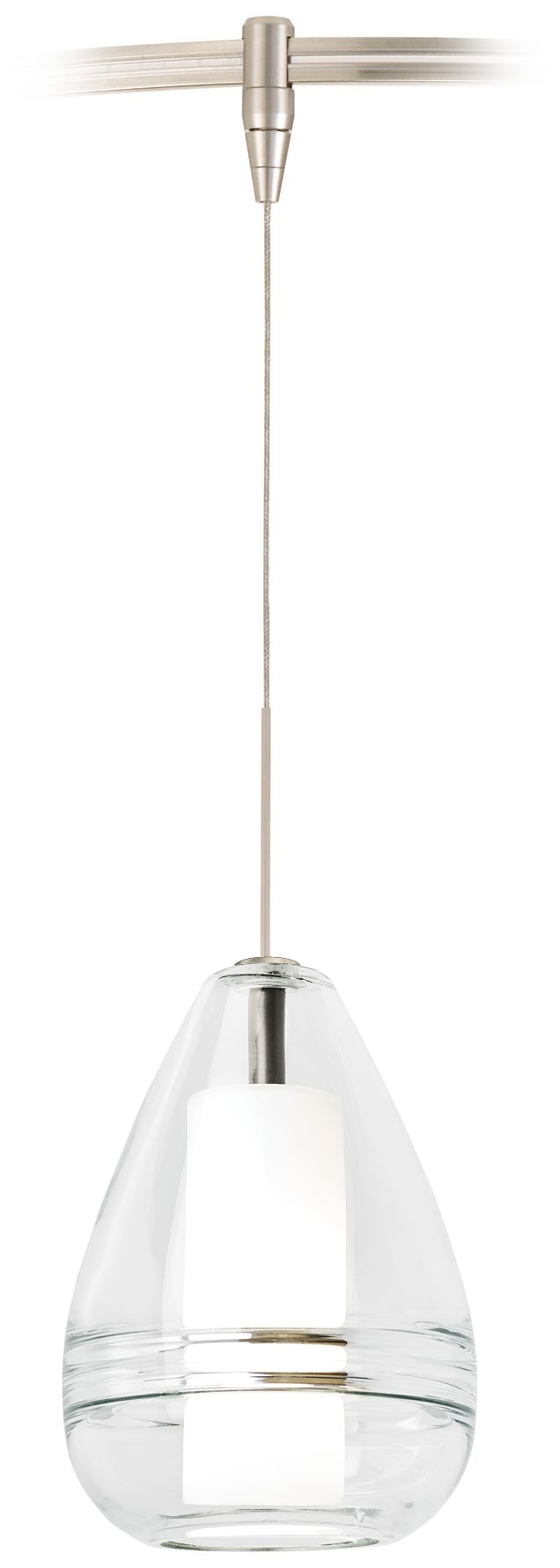 mini ella 5 wide clear glass led monorail mini pendant