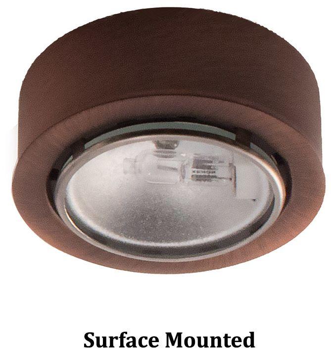 wac xenon 2 63 w copper bronze button under cabinet light