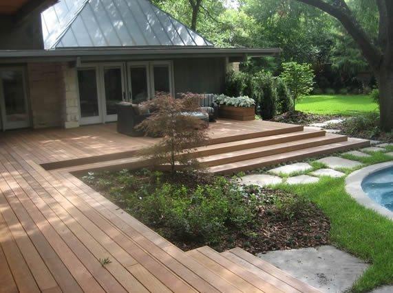 Treated Ground Wood Garden Above