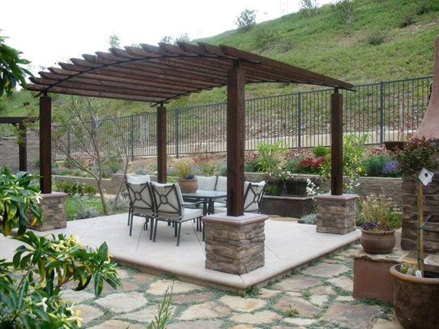 Pergola plans patios diy blueprint plans download loft bed for Pergola designs