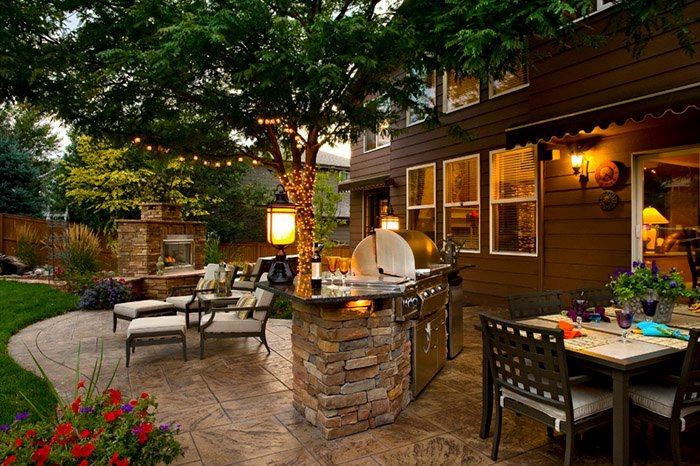 Backyard Patio Ideas Grill