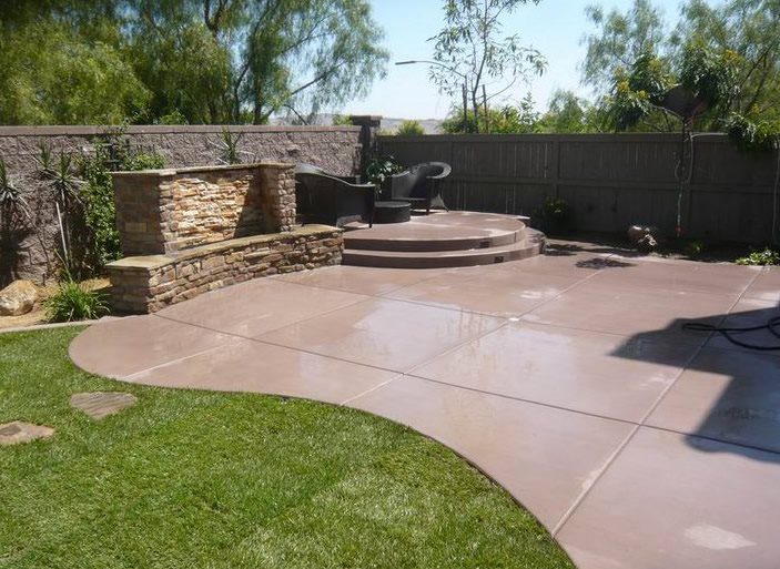 how to color concrete landscaping network