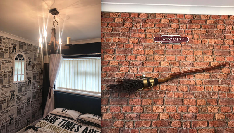 Mum Creates Incredible Harry Potter Bedroom For Her Daughter For 250 Latestdeals Co Uk