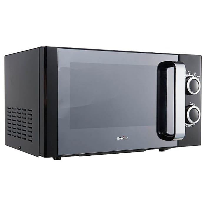 breville manual microwave black at