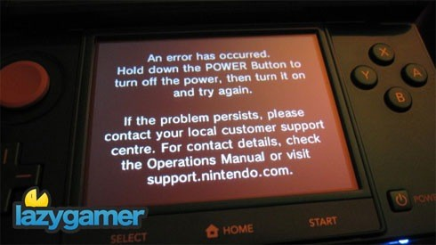 """Nintendo on """"black screen of death"""": download the firmware update 2"""