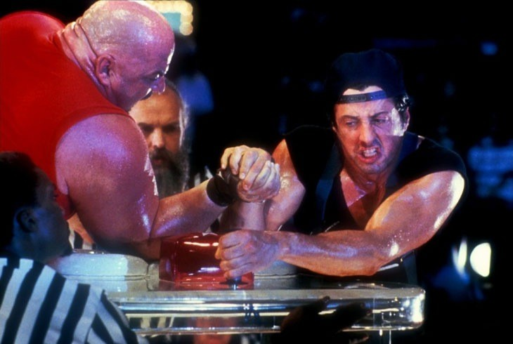 Over the top, starring Stallone as a trucker, and worlds best arm-wrestler. I'm not making this up.