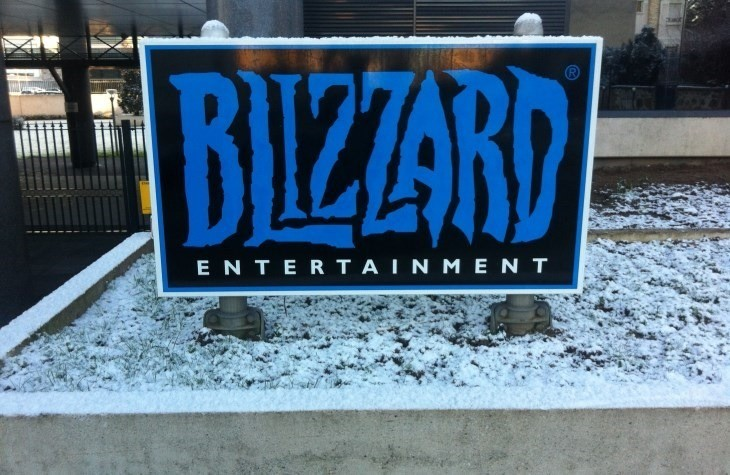 A Blizzard sign covered in snow, how apt