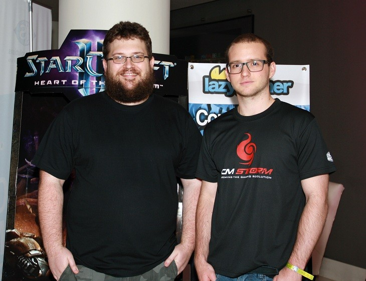 Garth Holden (lazygamer) and Robert Botha