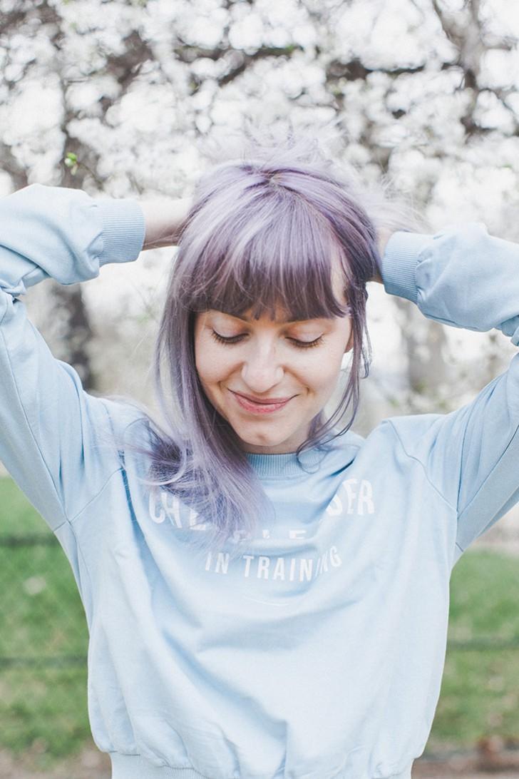 Cheveux violets bleus-71