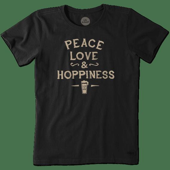 Women's Peace, Love, and Hoppiness Crusher Tee