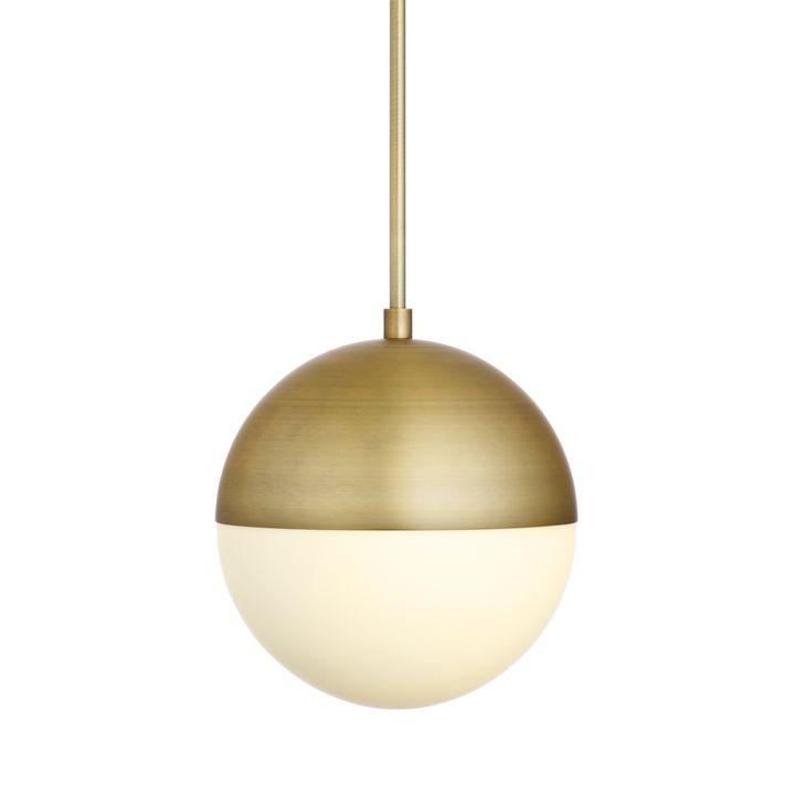Lights Com Ceiling Pendant Lighting Powell Led 10 Aged Brass Globe Pendant