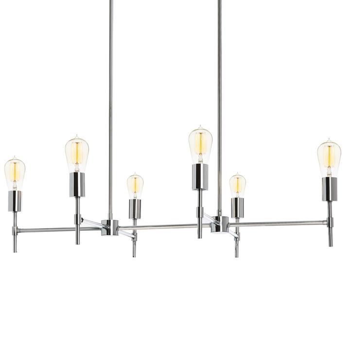prospect 6 light linear chandelier chrome