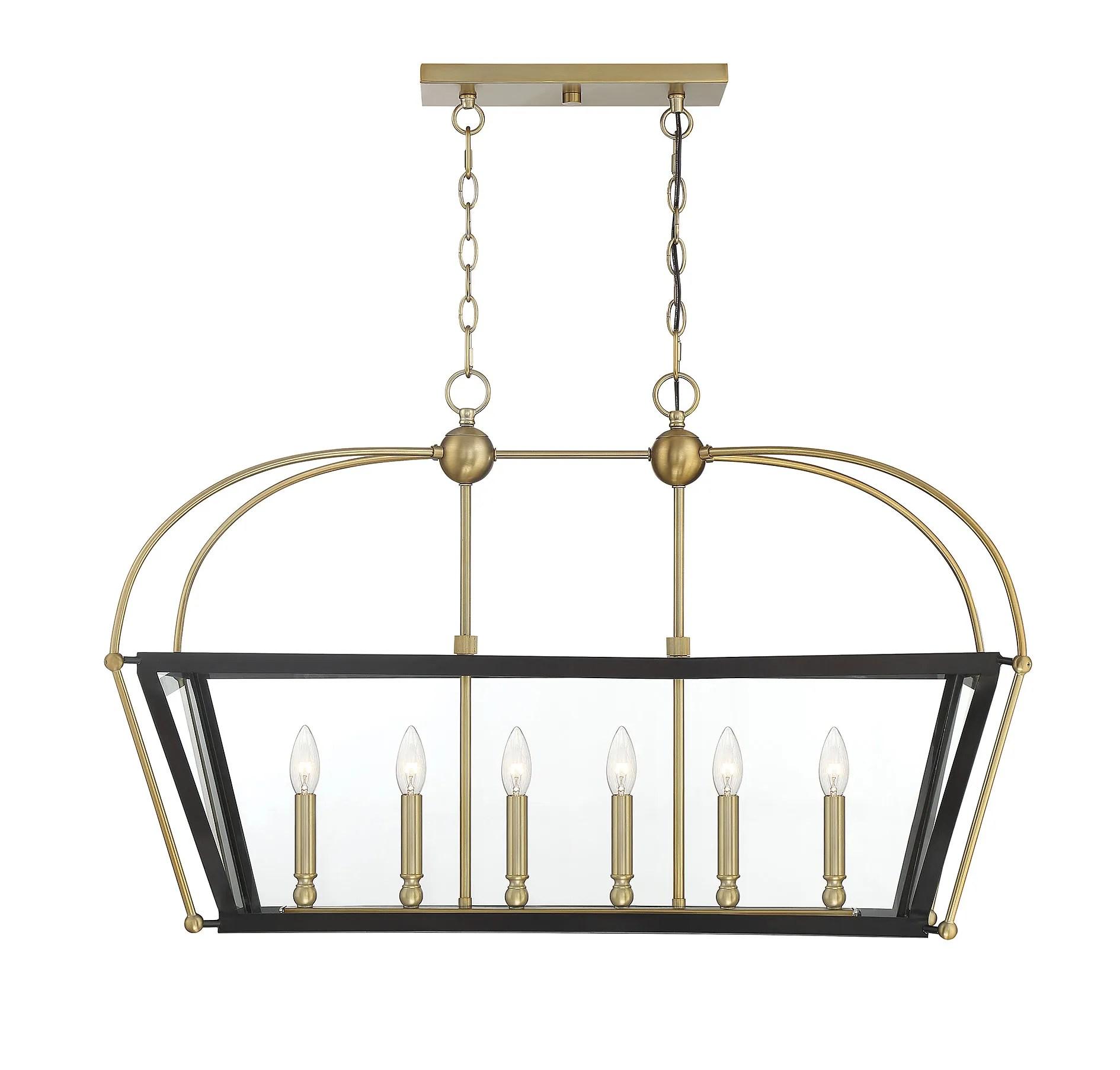 savoy house dunbar 6 light chandelier in english bronze and warm brass