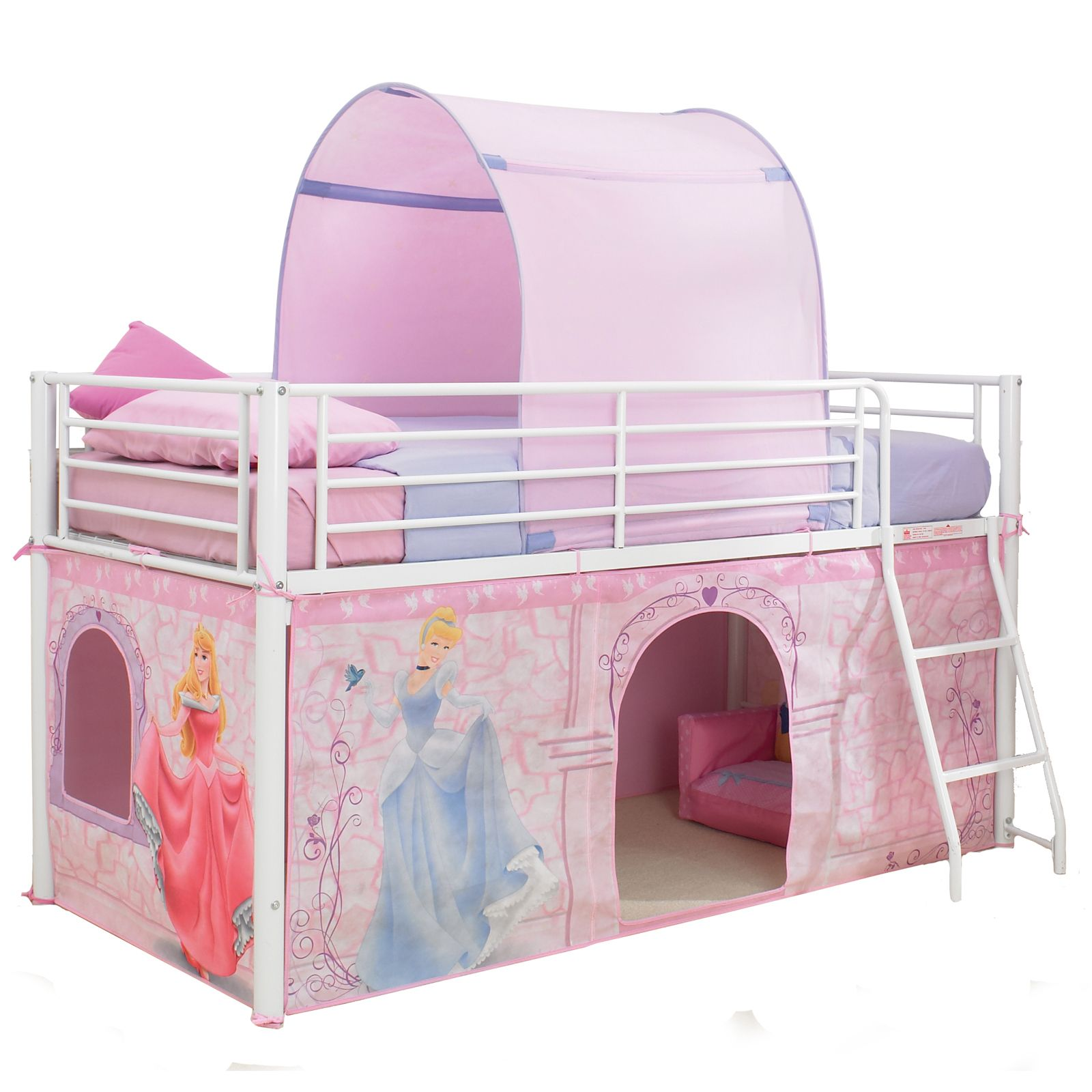 Disney Princess Mid Sleeper Cabin Bed Tent New Official