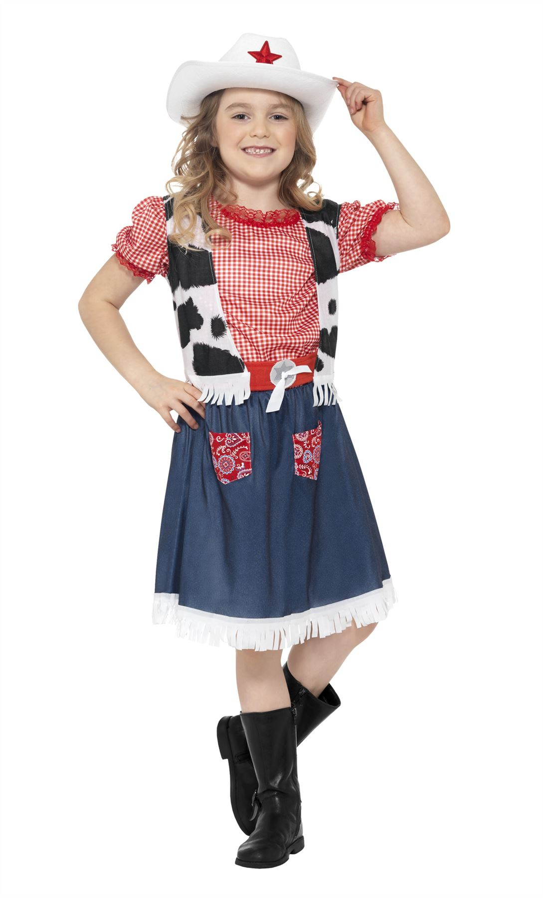 Girls Cowgirl Sweetie Costume Wild West Cowboy Kids Child