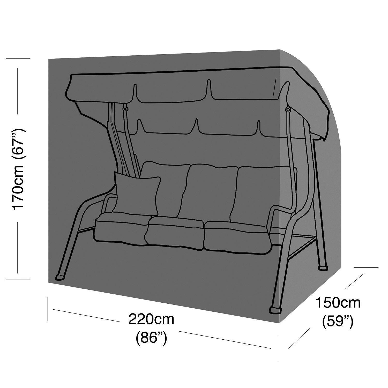 Heavy Duty 3 Seater Garden Swing Hammock Cover Furniture