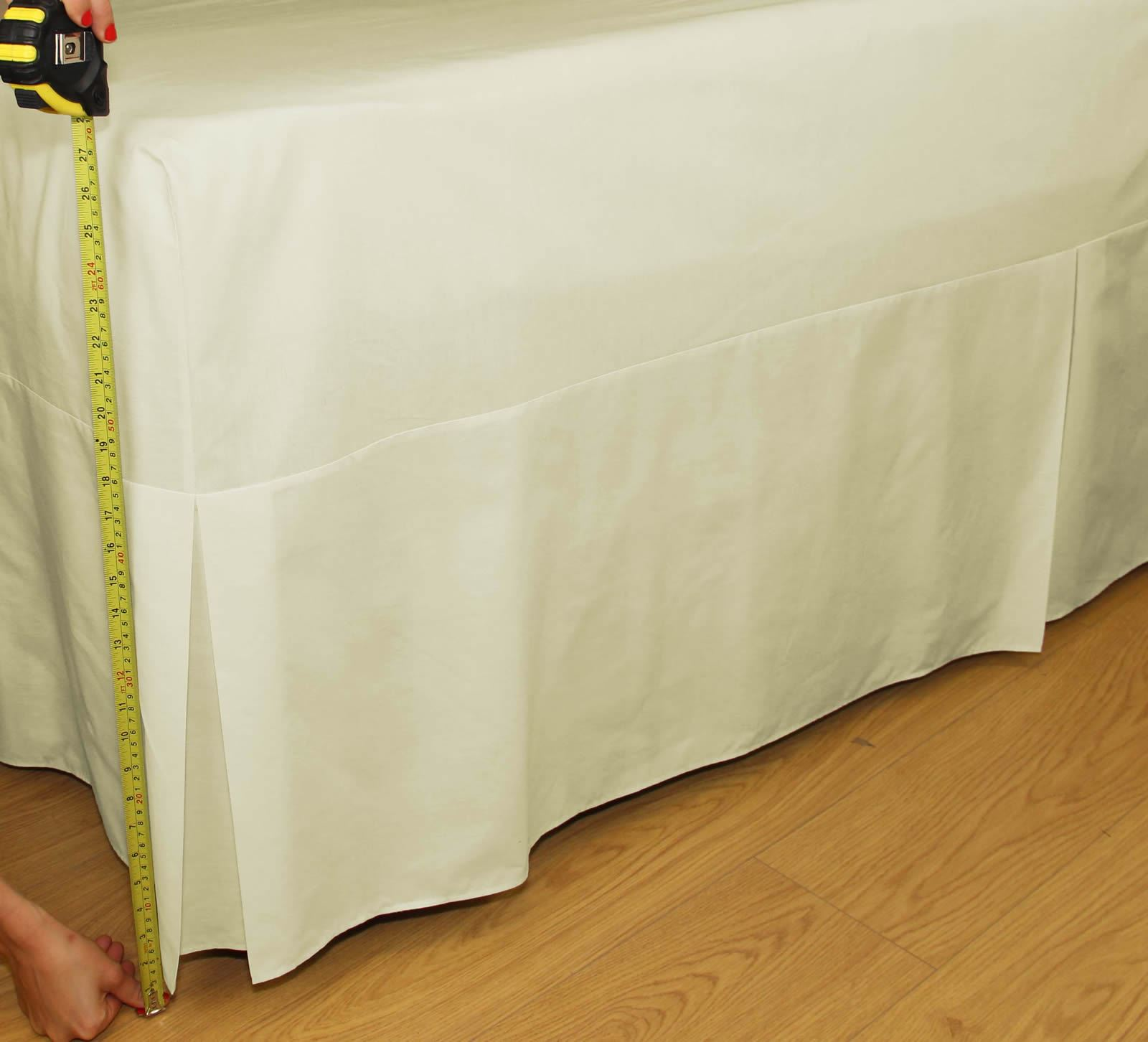 180 Thread Count Percale Fitted Valance Sheet Pleated Bed