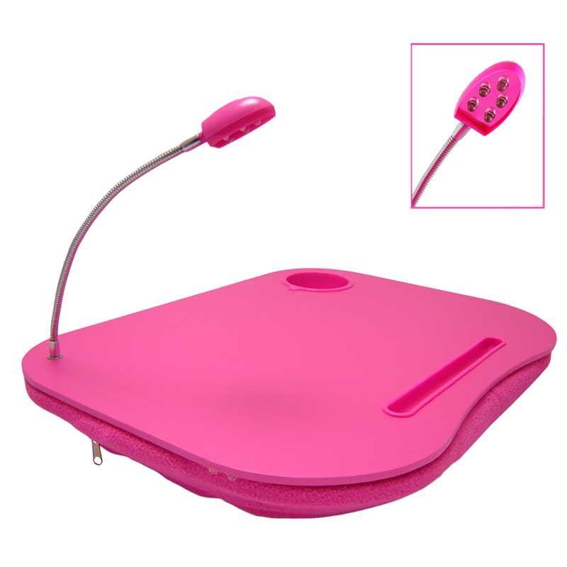 coussin table de lecture portable pour idap avec lampe 5 led et porte gobelet ebay