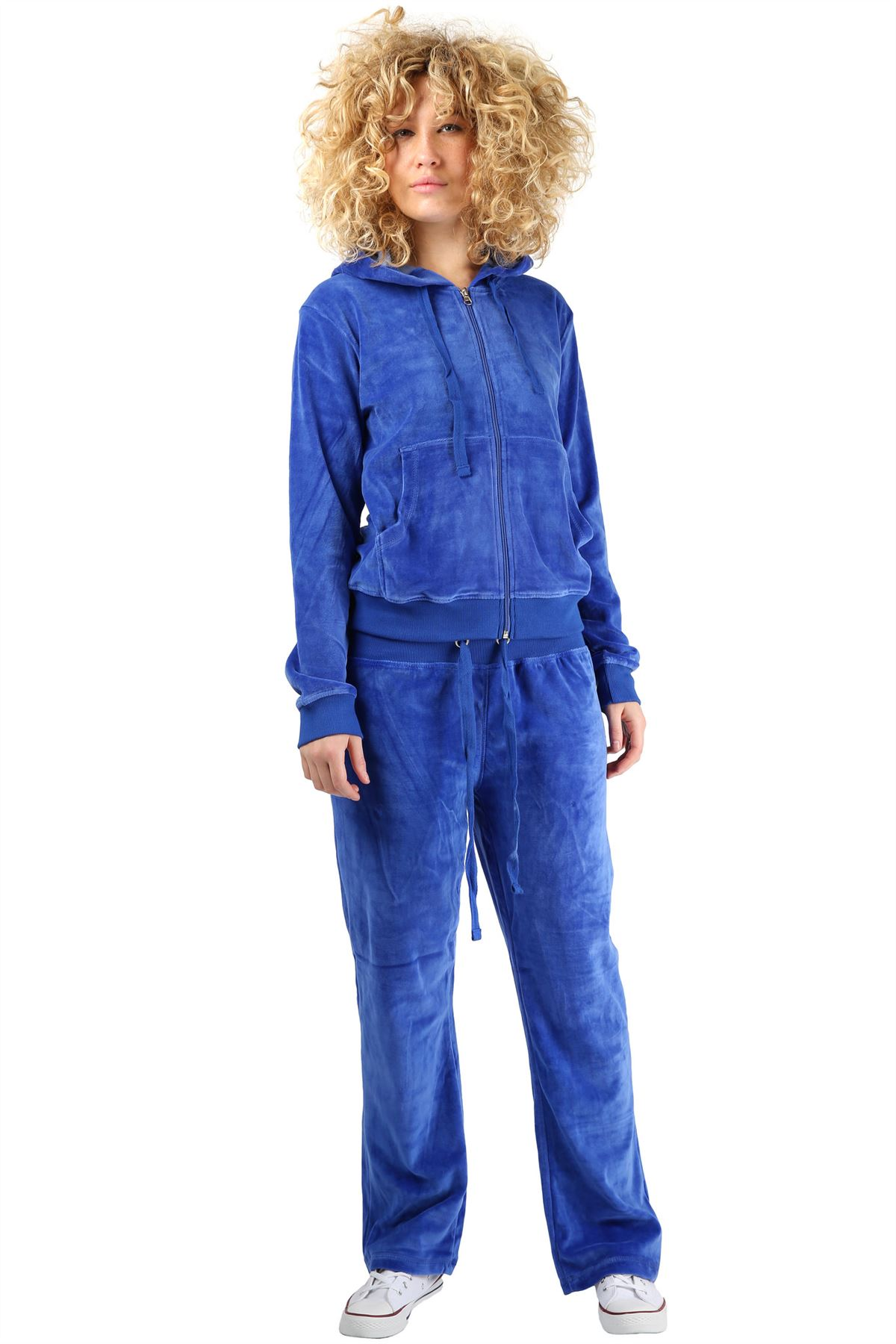 La S Velour Tracksuit Womens Track Top With Joggers