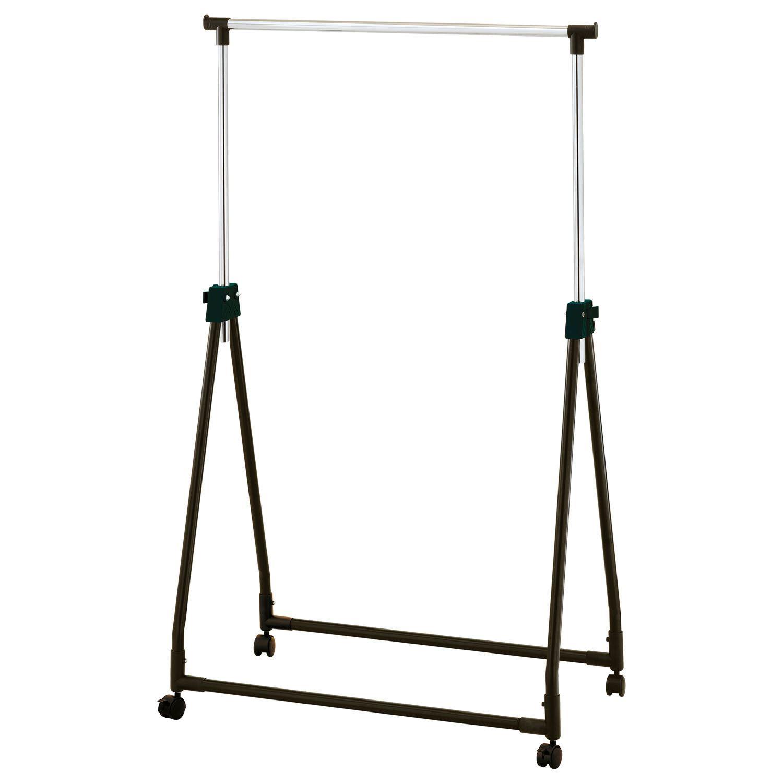 Collapsible Adjustable Clothes Rail Garment Rack Coat