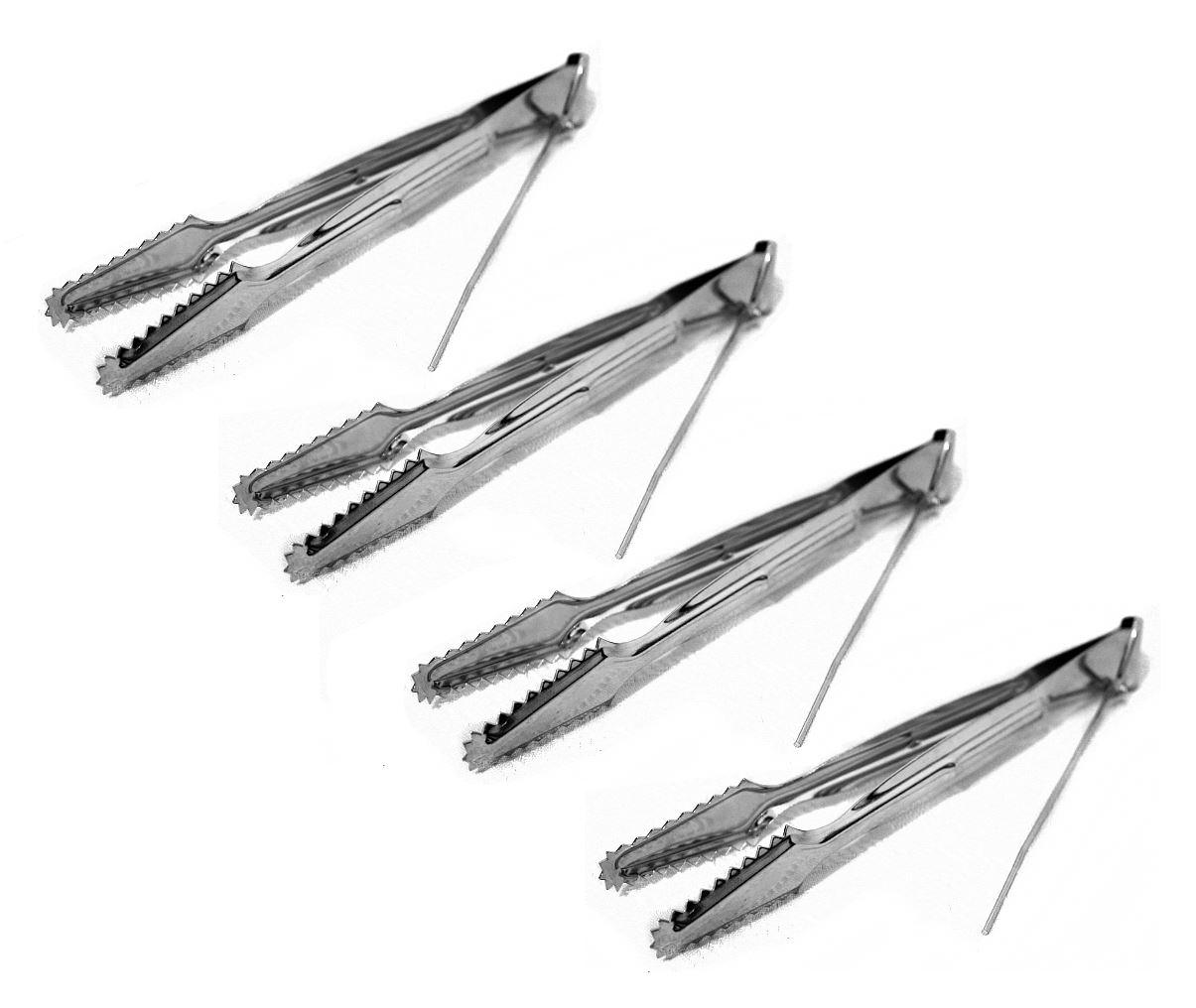New 4 Metal Tongs For Charcoal Hookah Shisha Narguile