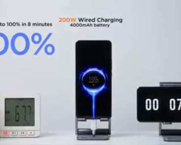 Xiaomi builds 200W charger that charges smartphone battery to 100% in 8 minutes