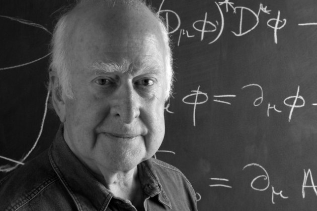 Peter Higgs 50 B and W
