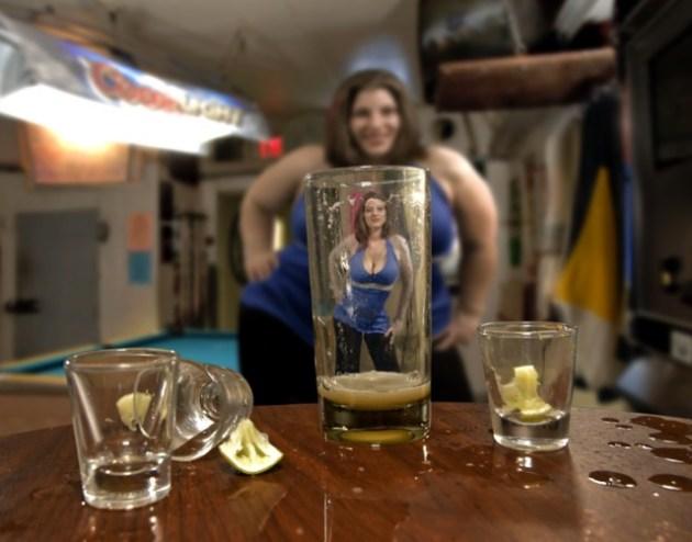 donna sexy alcol