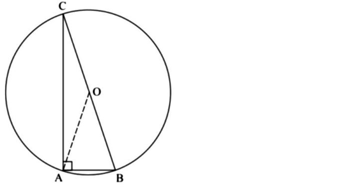 Sapendo che l'angolo AOB misura 50°, quanto misura l'angolo ABC?