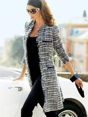 Giacca soprabito in tweed