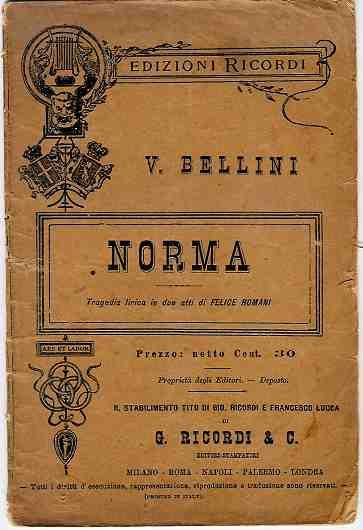 Libretto Norma Vincenzo Bellini