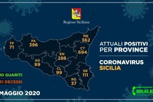 sicilia mappa contagi coronavirus