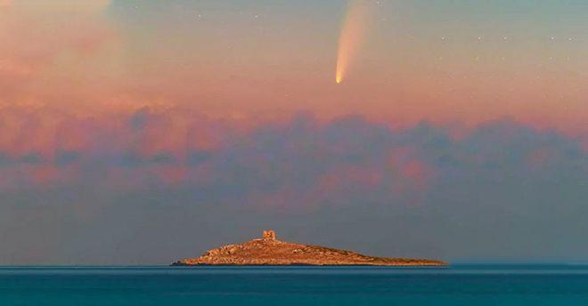 sicilia cometa isola delle femmine