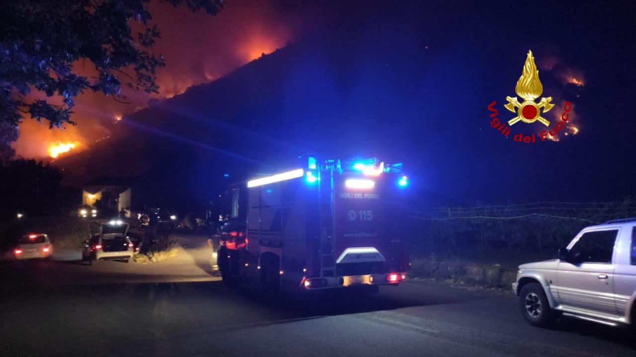 Incendio monte Gorna