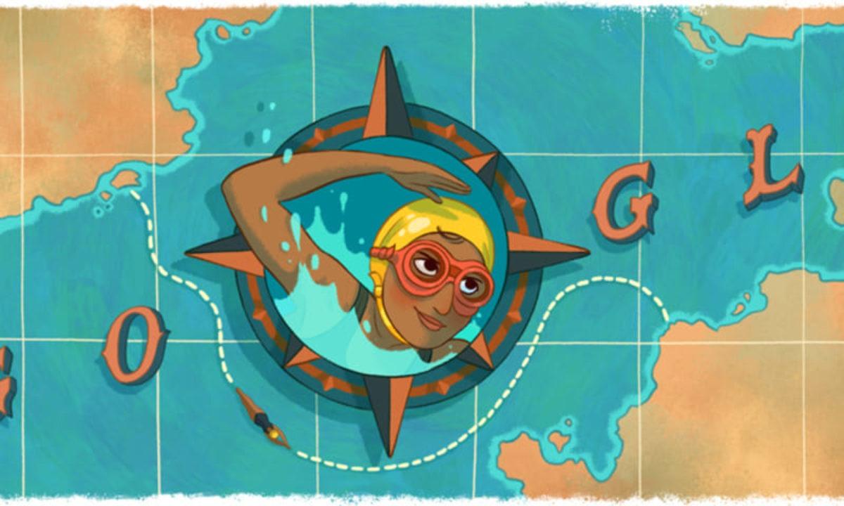 Google celebra Arati Saha, la prima donna asiatica che ha attraversato la Manica a nuoto