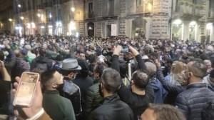 Protesta dpcm covid a Catania