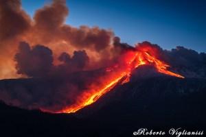 eruzione etna 21 febbraio