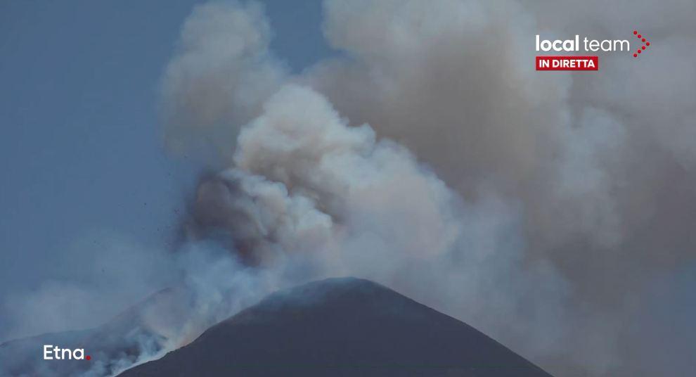eruzione etna 14 luglio 2021