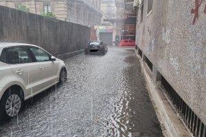 maltempo Catania via Etnea
