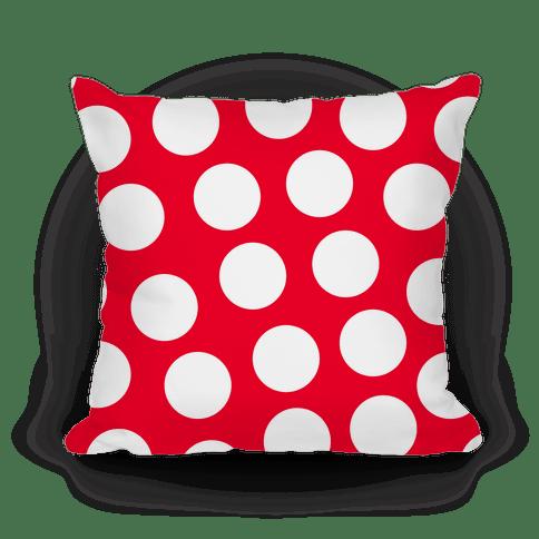 red polka dot pillow pillows lookhuman