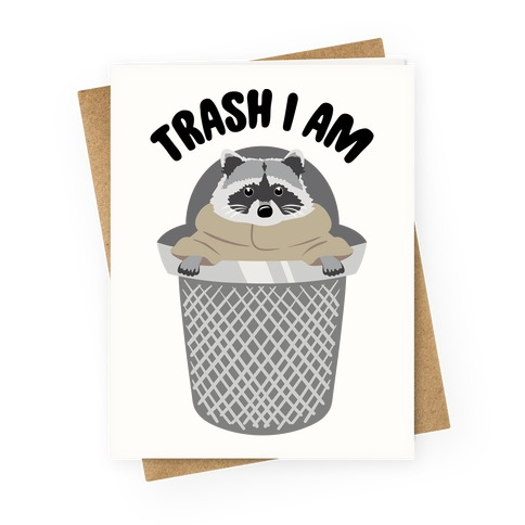 Trash I Am Raccoon Baby Yoda Parody Greeting Cards Lookhuman