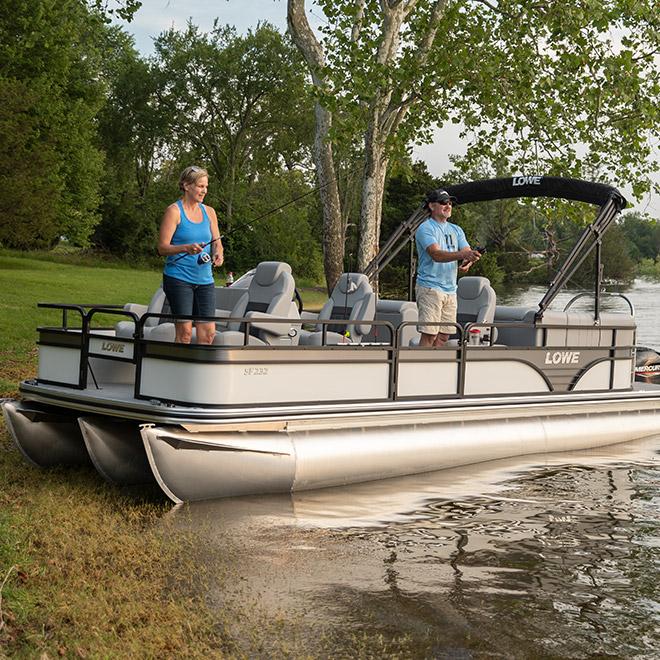 fish series sf pontoon boats