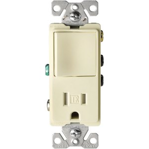 Shop Cooper Wiring Devices 15Amp Almond Combination