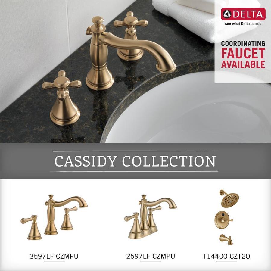 bathroom hardware delta faucet 79710 cz champagne bronze 18 glass shelf with bar hardware