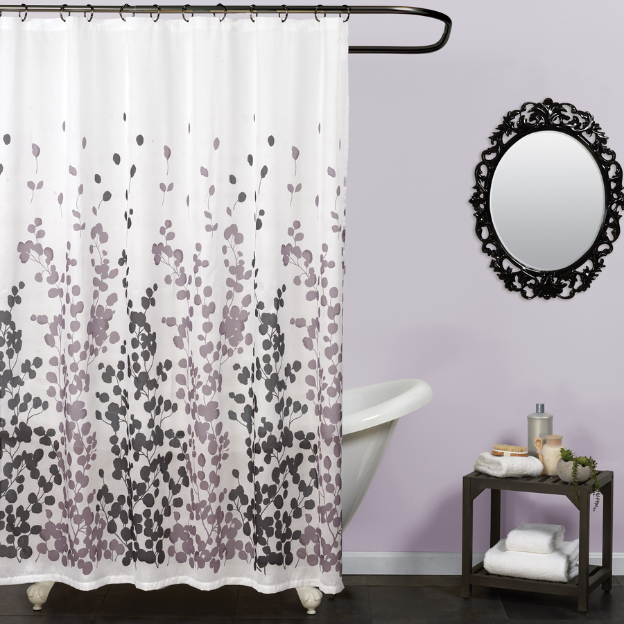 black shower curtains liners at lowes com