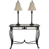 Style Selections Bronze Buffet Lamp Set with Sofa Table