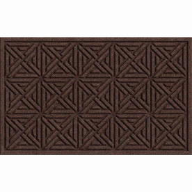 Apache Mills, Inc. Brown Rectangular Door Mat : 18-in x 30-in;